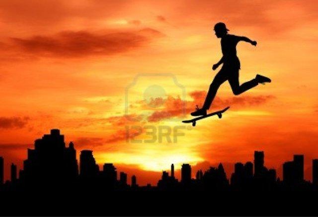 joven saltando