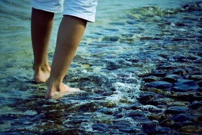 caminar río